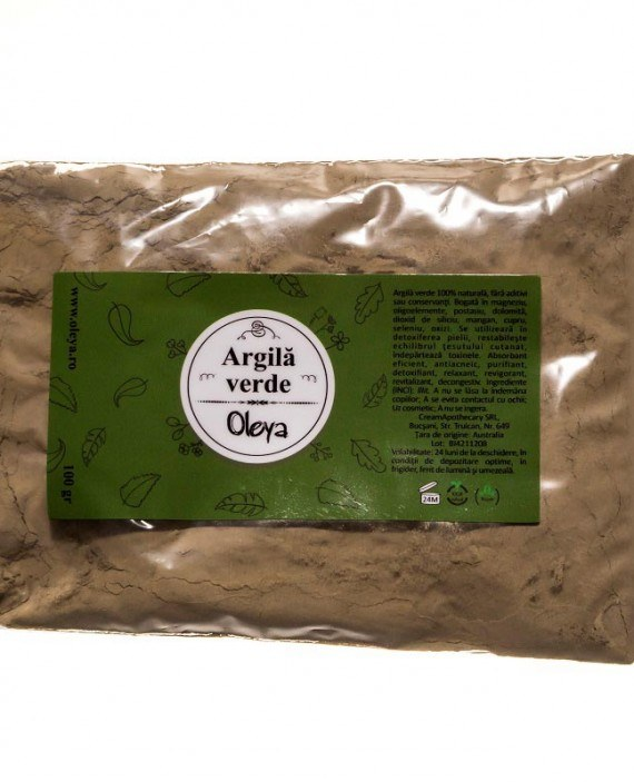 masca cu argila verde
