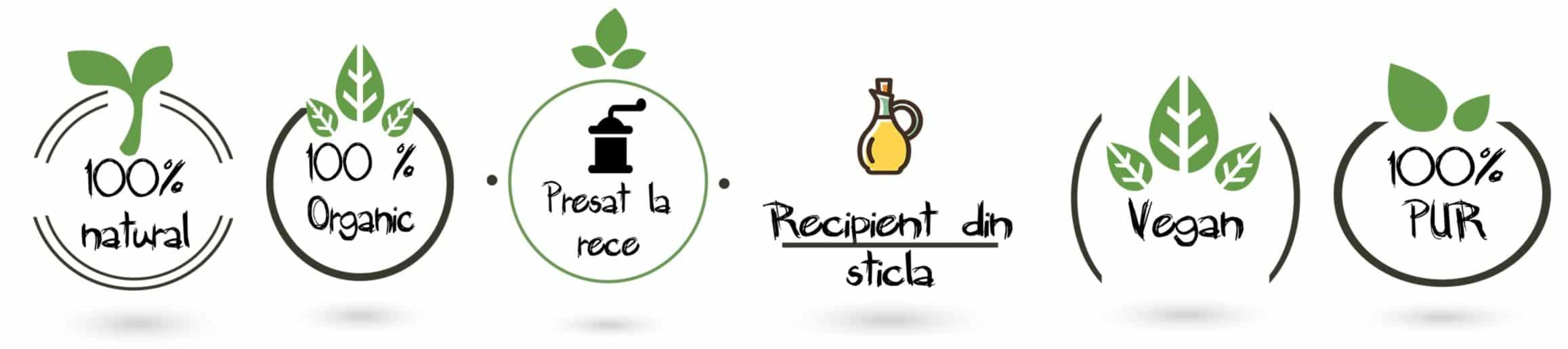 ulei de cocos parfumat organic presat la rece pentru ten si corp