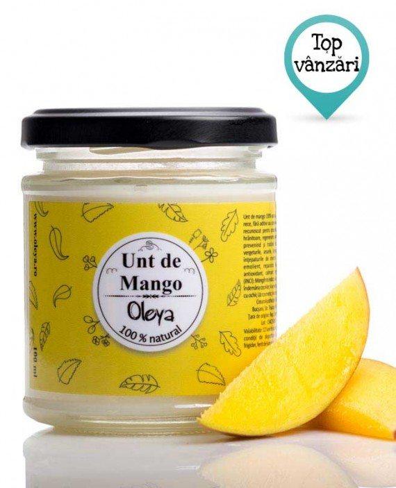 unt de mango nerafinat pentru piele