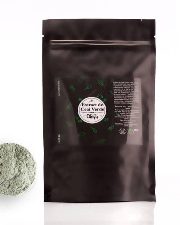 ceai verde pudra naturala