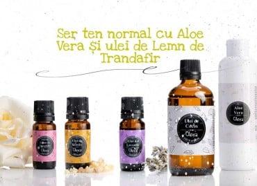 Ser ten normal cu Aloe Vera și ulei de Lemn de Trandafir