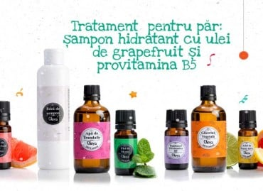 Tratament  pentru par: șampon hidratant cu grapefruit și  provitamina B5