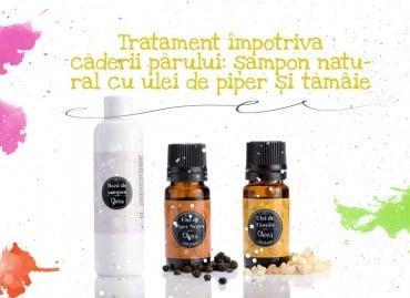 Tratament impotriva caderii parului: sampon natural cu ulei de piper negru și tămâie