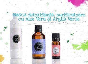 Masca detoxifianta, purificatoare cu Aloe Vera și Argila Verde