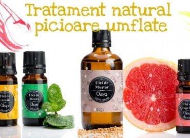Tratament natural picioare umflate cu Ulei de Muștar și Grapefruit