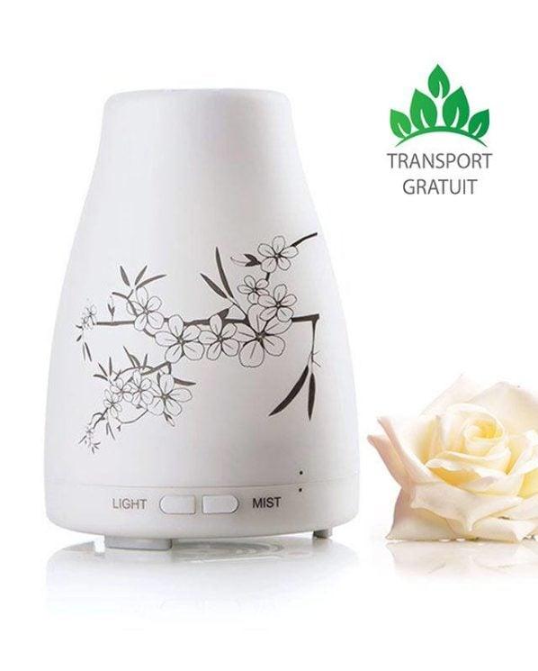 difuzor pentru aromaterapie cu ultrasunete si lampa de culori