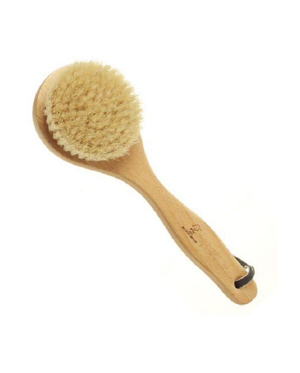 Perie-de-corp-cu-mâner-scurt,-fabricată-din-păr